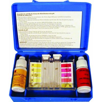 Testsæt til klor & pH-værdi (dråber)